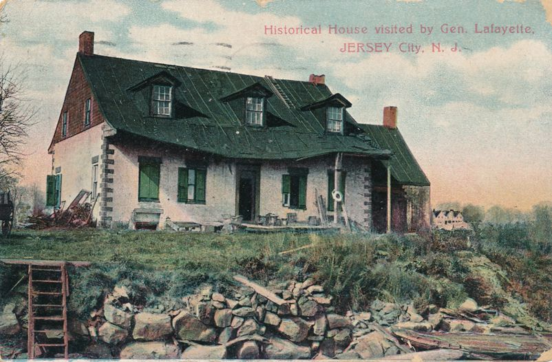 Historical House Visited by Gereral Lafayette - Jersey City, New Jersey - pm 1910 - Divided Back