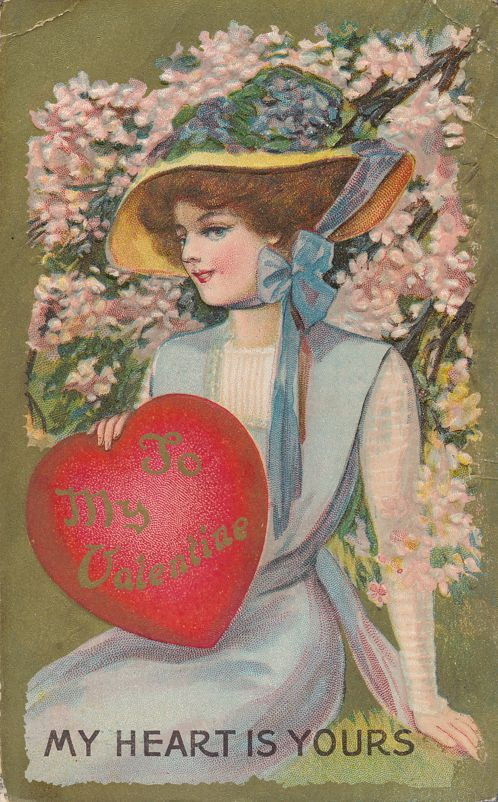 To My Valentine Greetings - My Heart is Yours - pm 1910 at Newark NJ - Divided Back