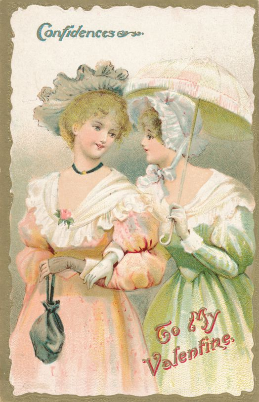 Confidences To My Valentine Greetings - Beautiful Ladies - pm 1910 at Pittsburg PA - Divided Back