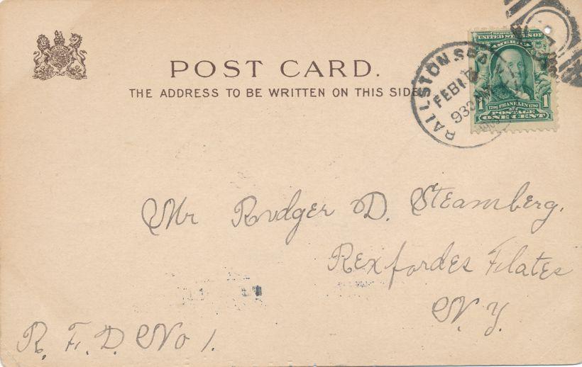 Raphael Tuck Valentine Greetings I Love a bold man like you Policeman - a/s E. Curtis - pm 1905 at Balston Spa NY