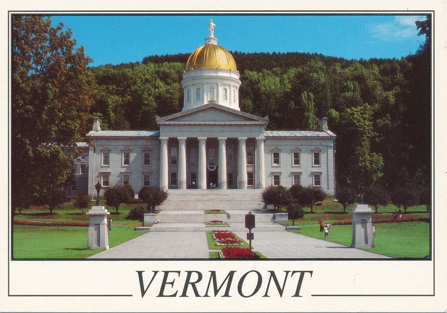 State House - Montpelier, Vermont - Statue of Ceres on Gold Dome