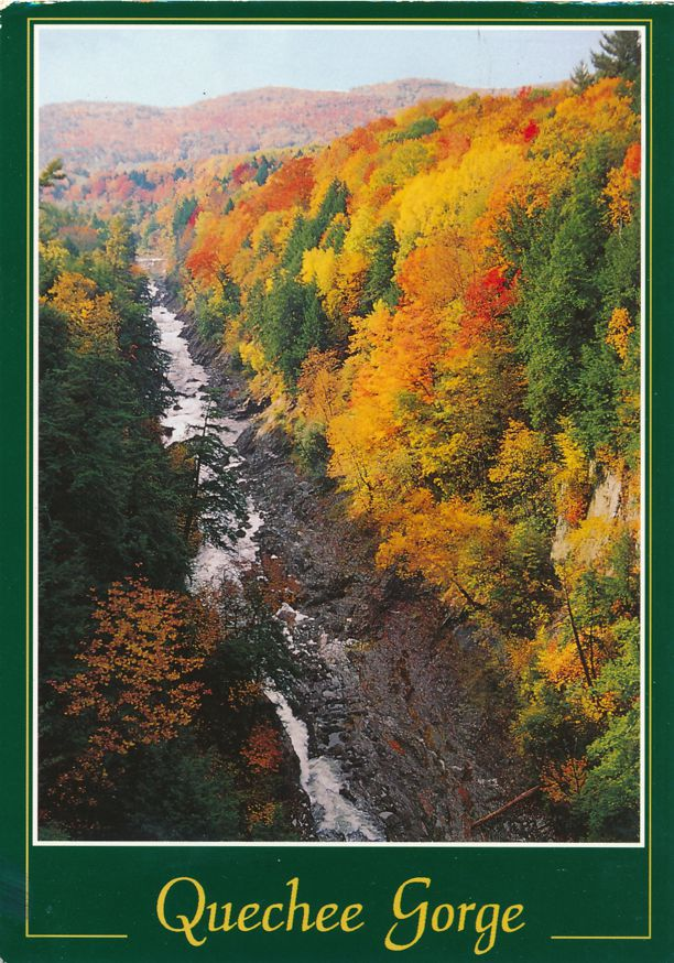 Autumn Spectacle at the Quechee Gorge Ottauquechee River - Quechee, Vermont - pm 1995 at White River Junction VT