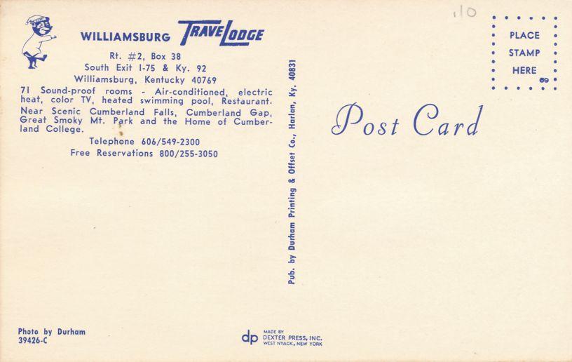Trabel Lodge Motel and Restaurant - Williamsburg, Kentucky
