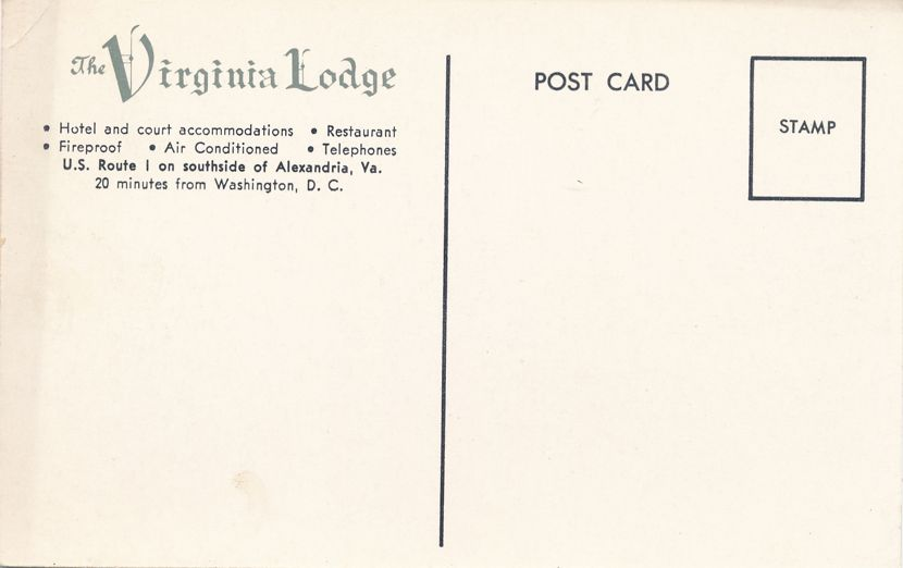 Virginia Lodge at Alexandria, Virginia - AAA Aproved Motel
