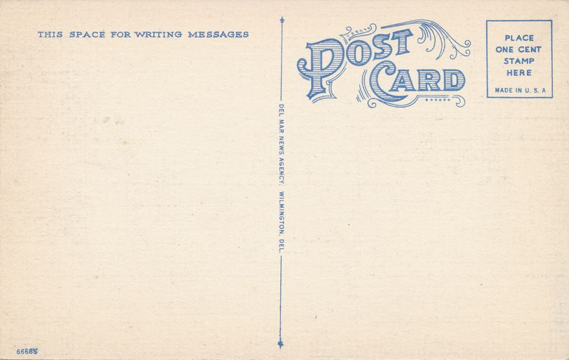 Park Drive along Historic Brandywine Creek - Wilmington, Delaware - Linen Card