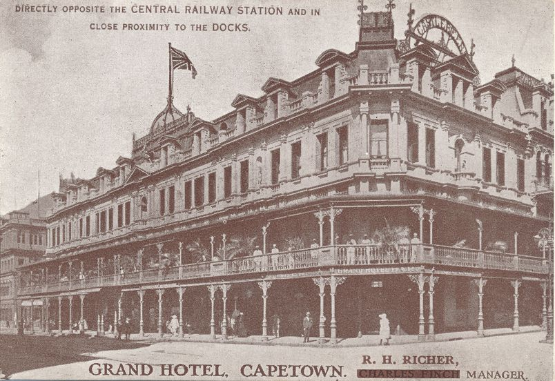 Grand Hotel at Capetown, South Africa (near Central Railway Station)