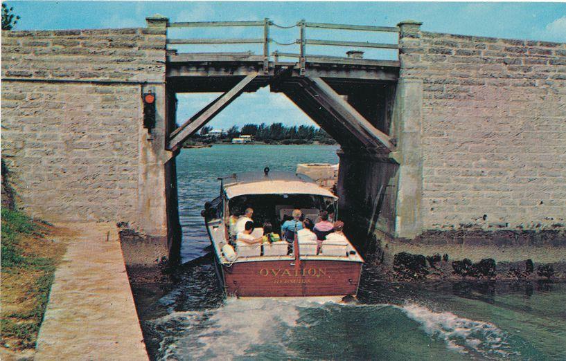 World's smallest Drawbridge linking Somerset to Sandy's Parish, Bermuda - Roadside
