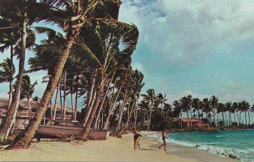 Beach at Truk Continental Hotel - Moen Island, Chuuk, Micronesia