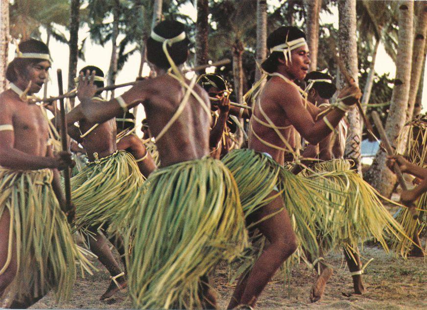 Stick Dancers - Boys from Mortlock Islands - Chuuk (Truk) Micronesia