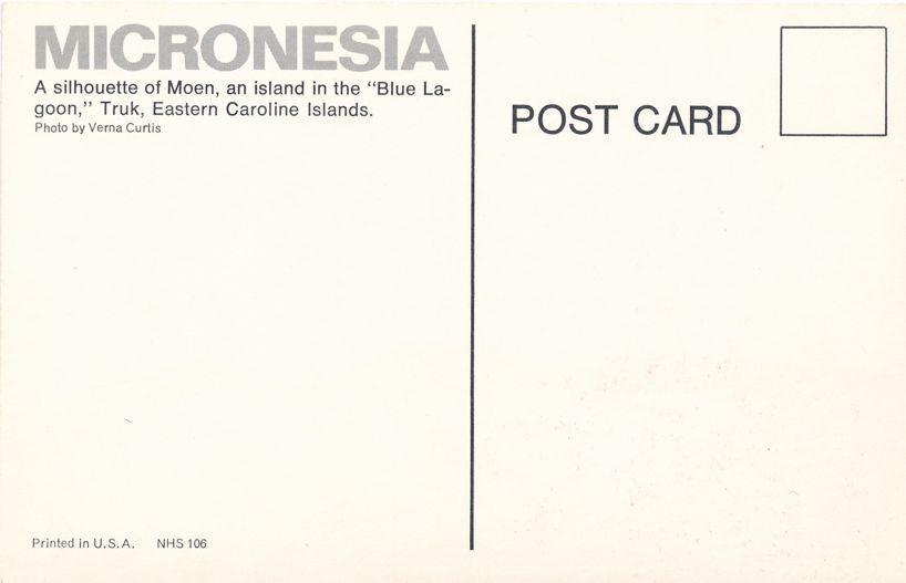 Moen Island, Chuuk Islands of Micronesia - Pacific