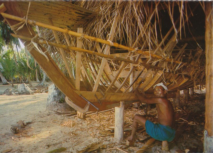 Yapese Boat Builder - Yap Islands, Micronesia