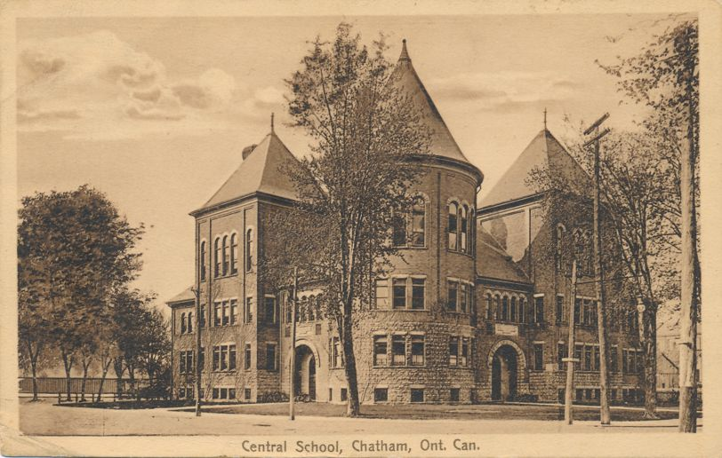 Central School - Chatham, Ontario, Canada - pm 1914 - Divided Back