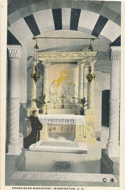 Altar at Franciscan Monastery, Washington, DC - White Border