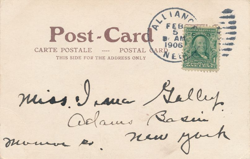 B&M Park - Alliance, Nebraska - pm 1906 - Undivided Back