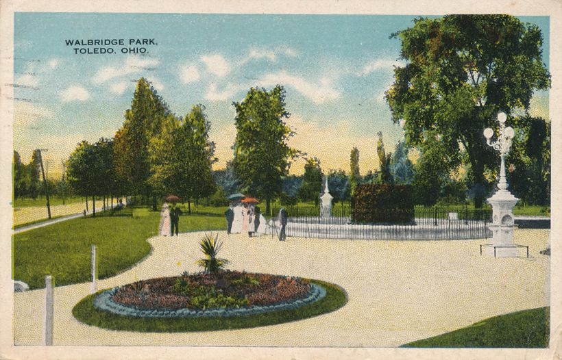 Walbridge Park at Toledo, Ohio - pm 1917 at Jackson MI - White Border