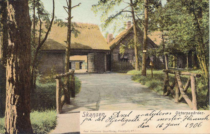 Skansen - Open Air Museum - Sweden - 1906 - Undivided Back