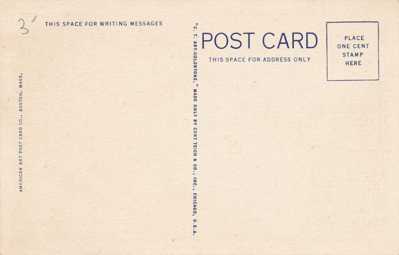 Bancroft Hotel - Worcester, Massachusetts - Linen Card