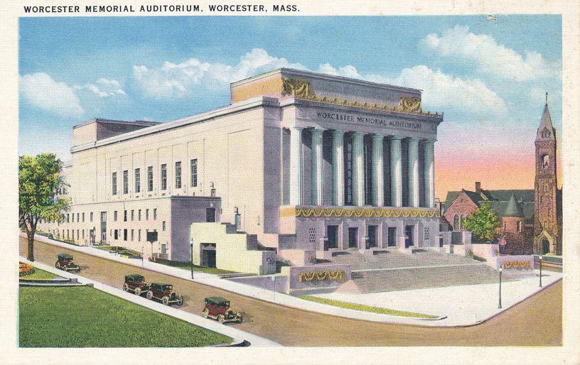 Memorial Auditorium - Worcester, Massachusetts - White Border
