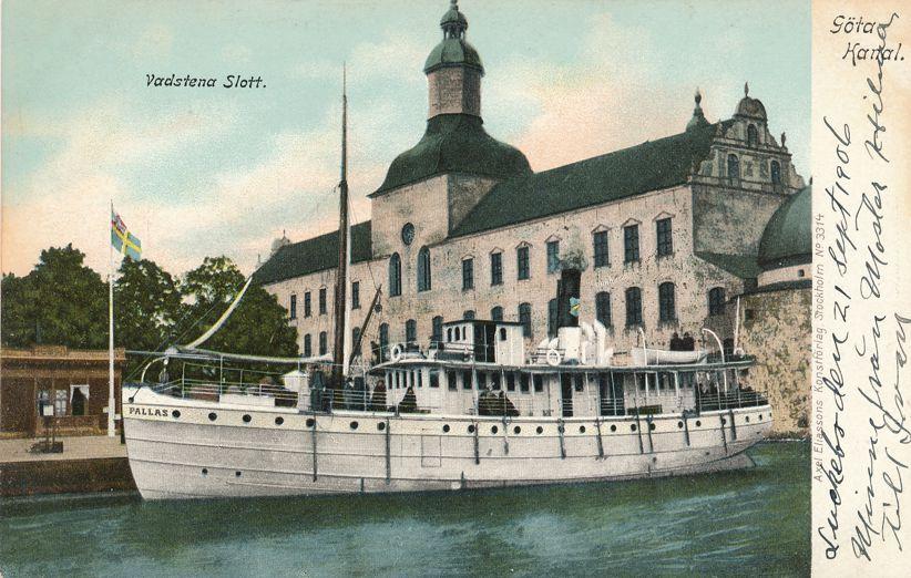 Steamer at Vadstena Castle, Sweden - 1906 - Undivided Back