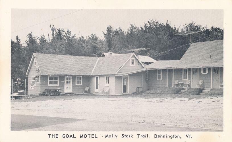 The Goal Motel on the Molly Stark Trail - Bennington, Vermont - Roadside