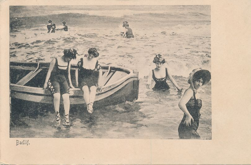 Ladies in Fancy Swimwear - Circa 1905 -