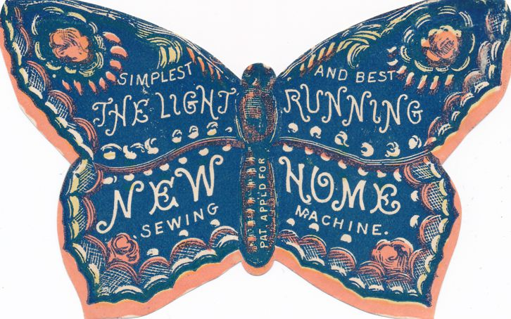 Butterfly Ephemera Advertising - New Home Sewing Machine