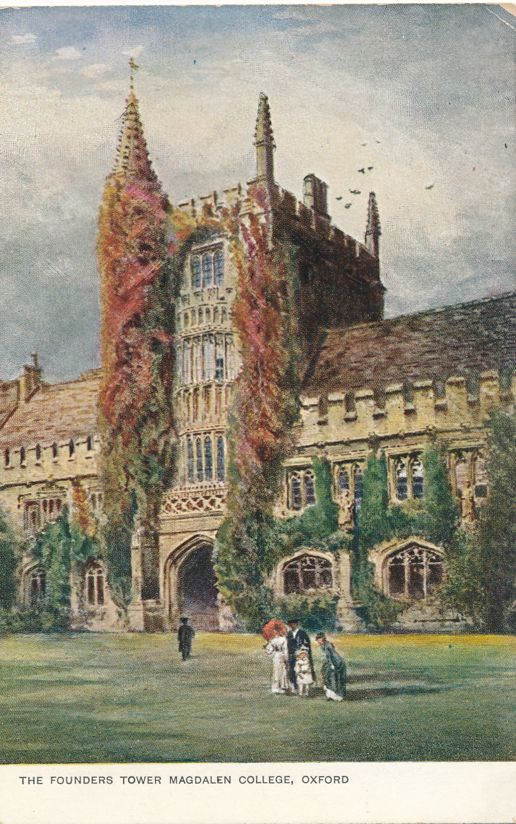 Founders Tower at Magelen College - Oxford, England, United Kingdom - Undivided Back