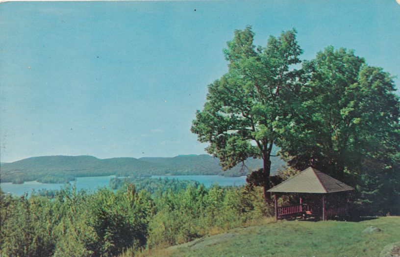 Blue Mountain Lake, Adirondack Mountains, New York - View from Adirondack Museum