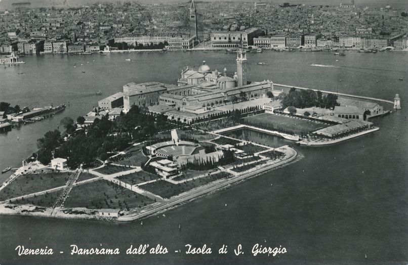RPPC Panorama of Saint George Island at Venice, Italy - Real Photo