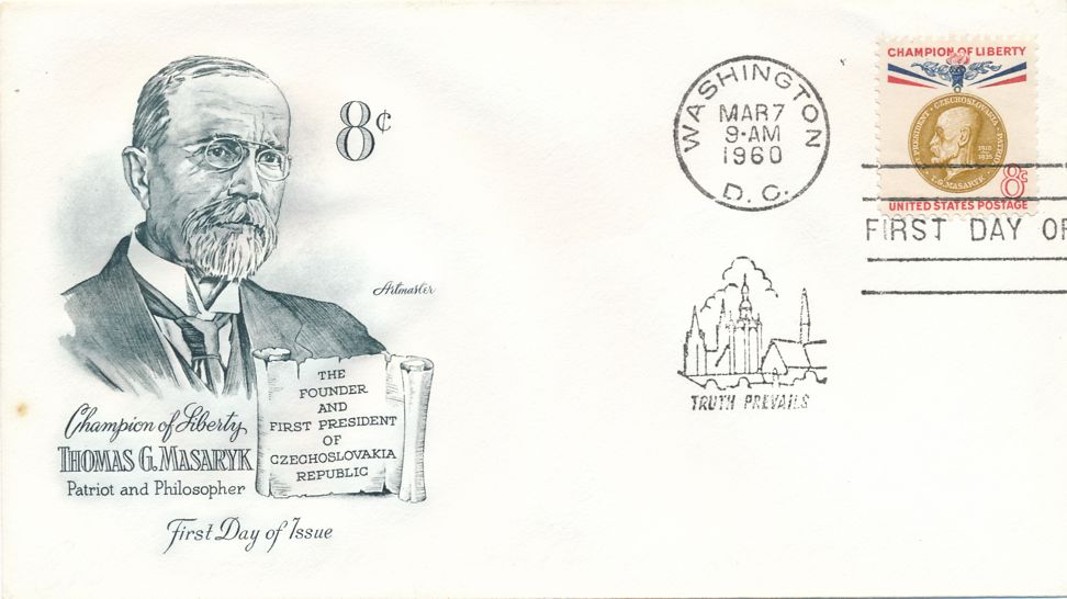 United States sc# 1148 FDC - Champion of Liberty Thomas Masaryk - Artmaster