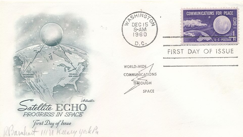 United States sc# 1173 FDC - Artmaster - Satellite ECHO 1