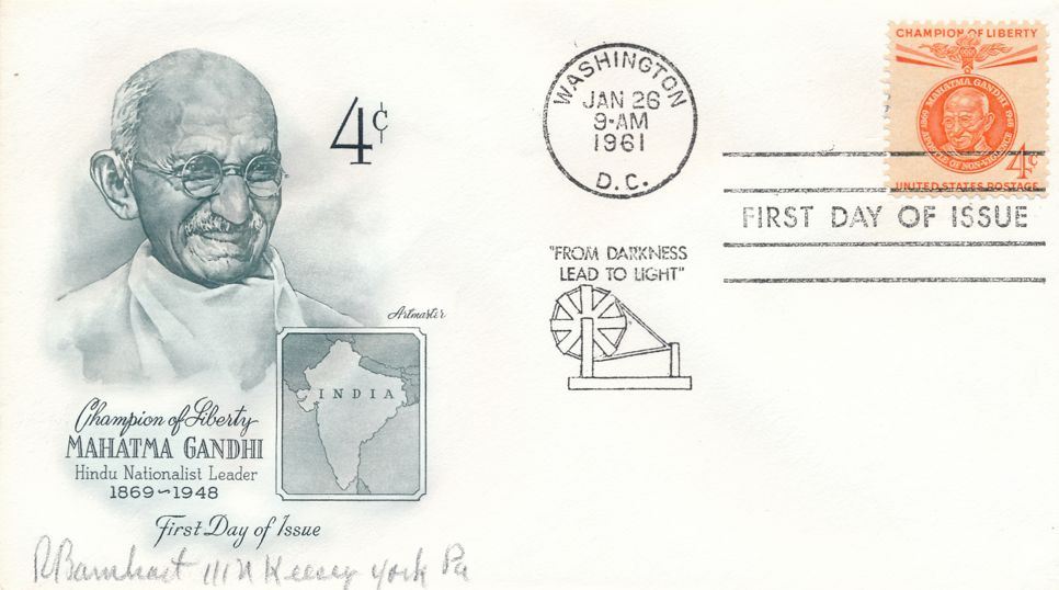 United States sc# 1174 FDC - Single Gandhi - Artmaster Champion of Liberty