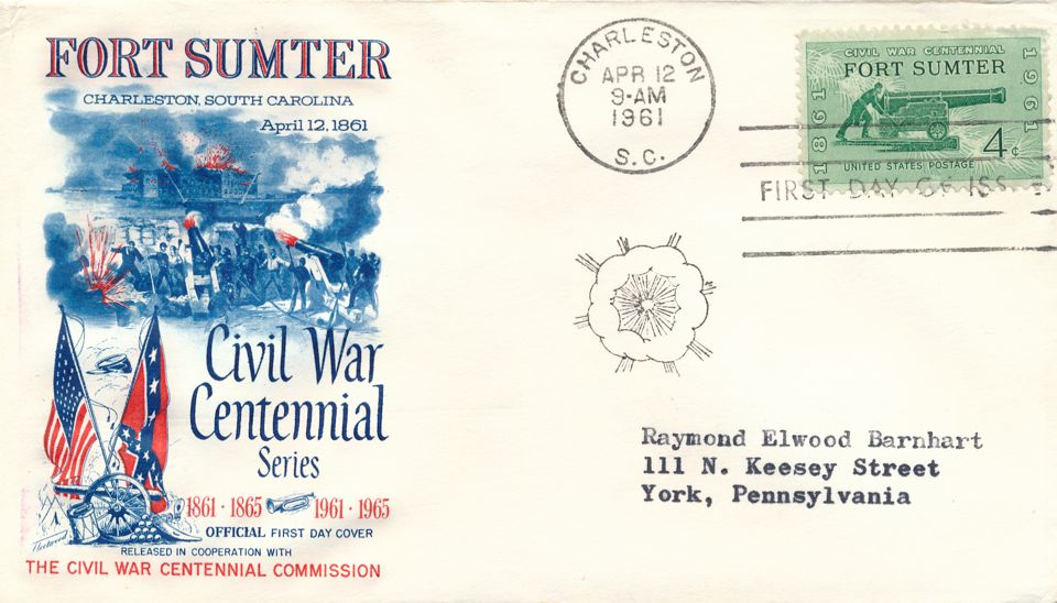 United States sc# 1178 FDC - Civil War Fort Sumter