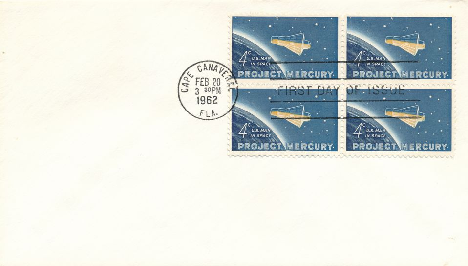 United States sc# 1193 FDC Block of 4 - Space Project Mercury