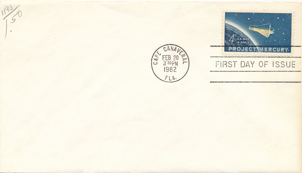 United States sc# 1193 FDC - Space Project Mercury