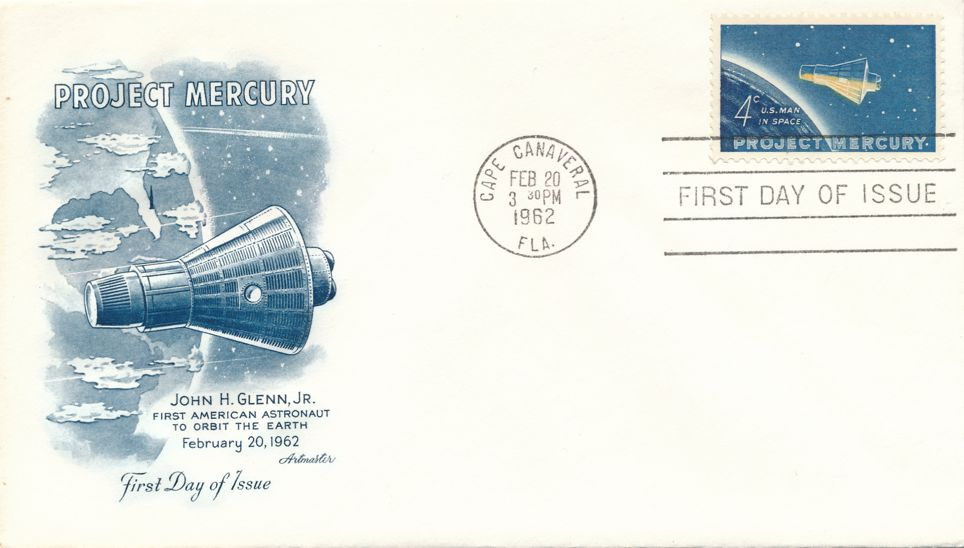 United States sc# 1193 FDC - Space Project Mercury - Artmaster