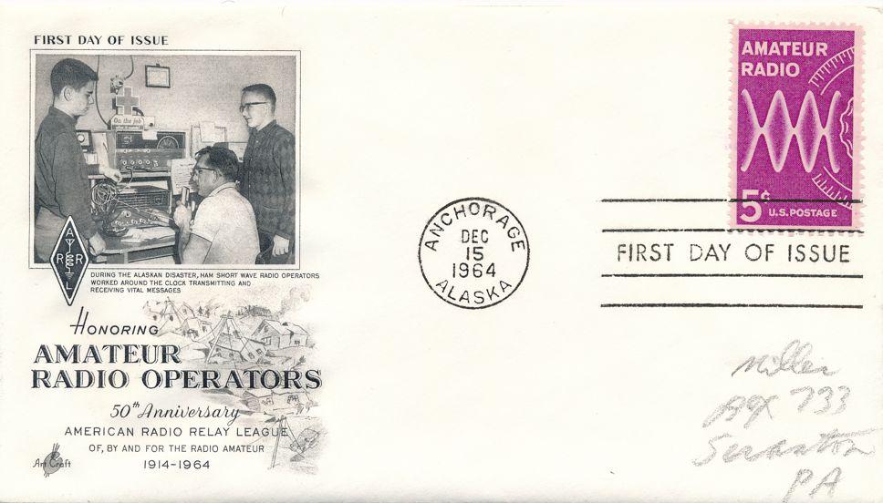 United States sc# 1260 FDC - Amateur Radio Operators 50th Anniversary - Art Craft