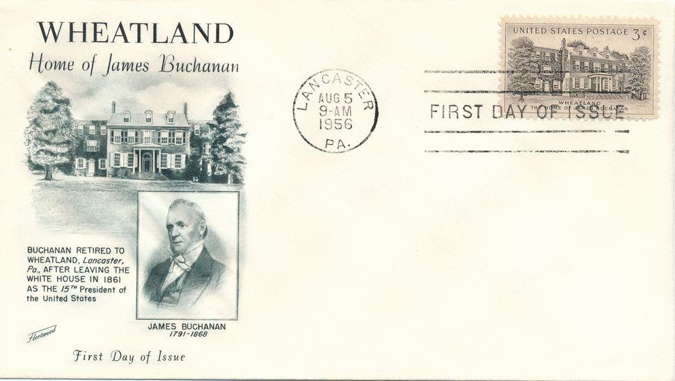 United States sc# 1081 FDC - Wheatland Buchanan Home - Fleetwood Cachet