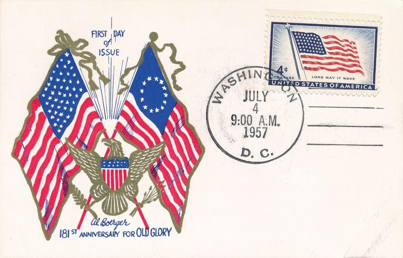 United States sc# 1094 FDC - Old Glory Flag - Al Boerger Cachet