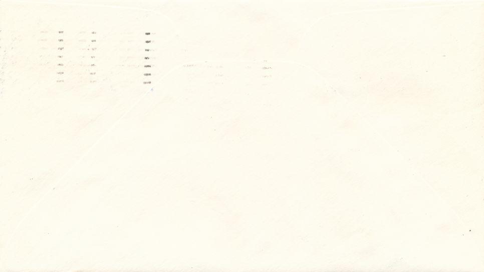 United States NASA Local Post #13 Apollo 13 Label plus Man on Moon Stamp - pm 1970 at Houston TX