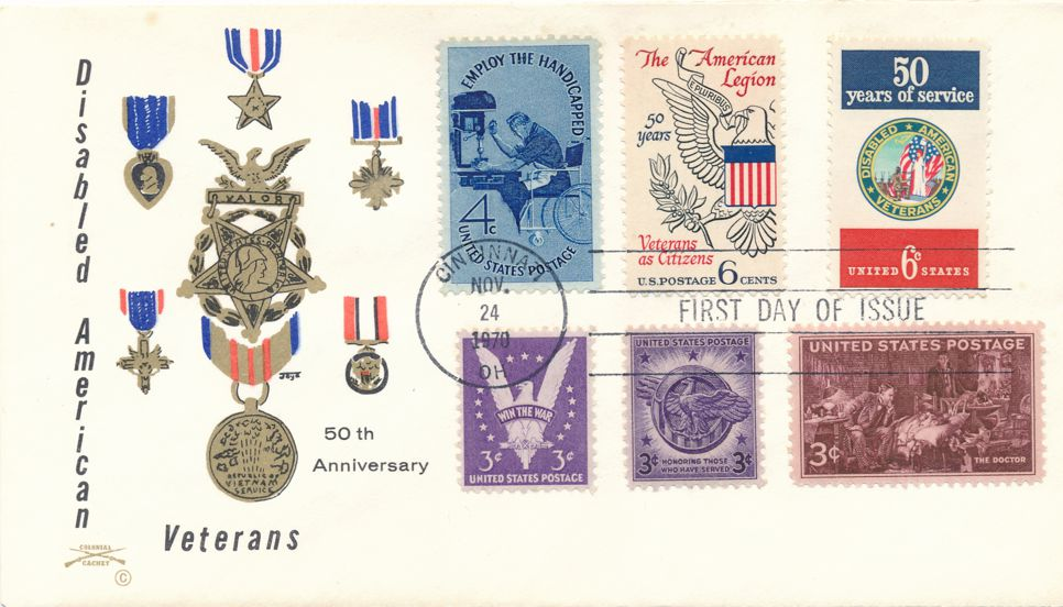 United States sc# 1421 FDC Honoring Servicemen plus Related Stamps