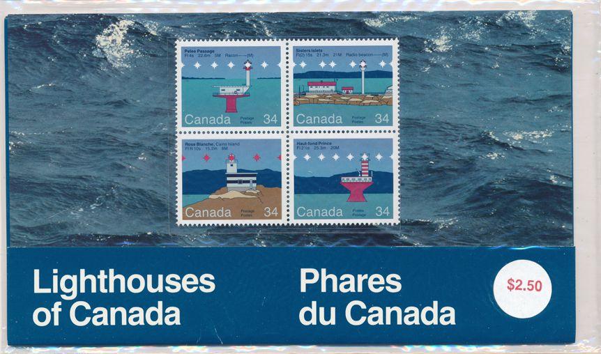 Canada sc# 1063-1066 - Block of 4 - MNH - Lighthouses - Sealed Presentation Pack