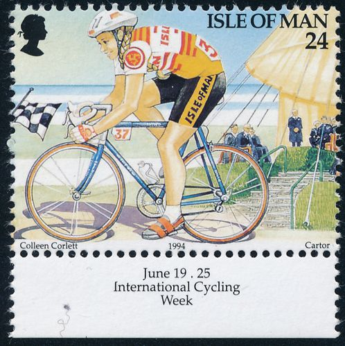 Isle Of Man sc# 584 - MNH - International Cycling Week 1994