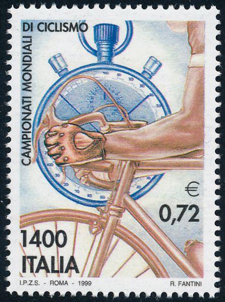 Italy sc# 2305 - MNH - World Cycling Championships - Bicycle Racing