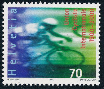 Switzerland sc# 1066 - MNH - Bicycle Racing - International Cycling Union