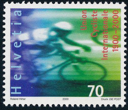 Switzerland sc# 1066 - MNH - International Cycling Union - Bicycle Racing