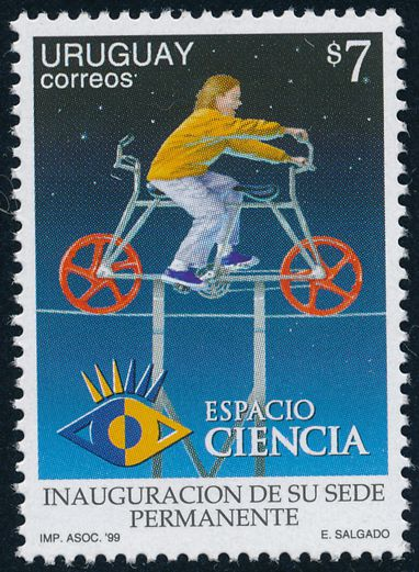 Uruguay sc# 1802 - MNH - Bicycle - Espacio Ciencia - Home for Science Exhibits