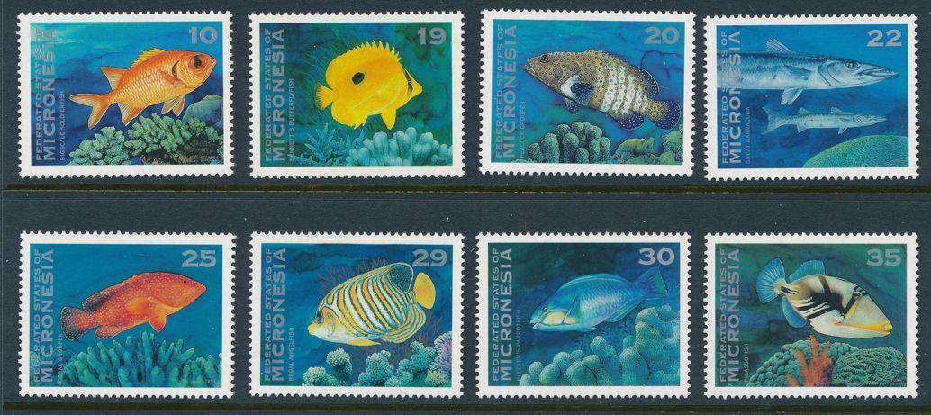 Micronesia sc# 156-167 (16 stamps) MNH - Fish of Micronesia