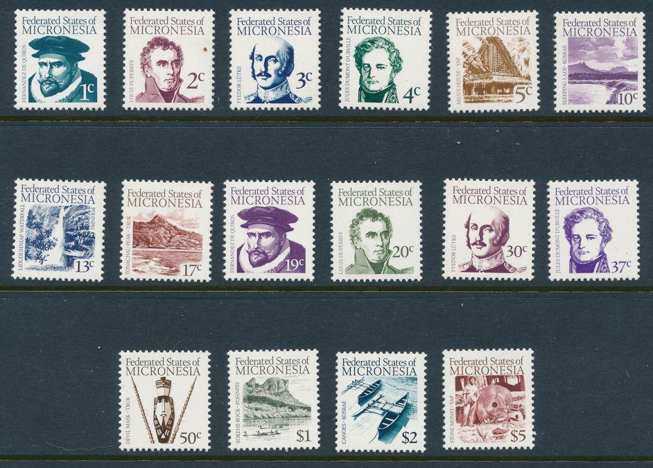 Micronesia sc# 5-20 MNH - First Definitive Series 1984
