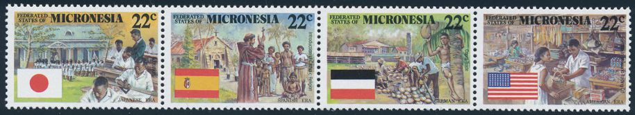 Micronesia sc# 62a MNH (Setenant strip of 4 59-62) - Colonial Eras